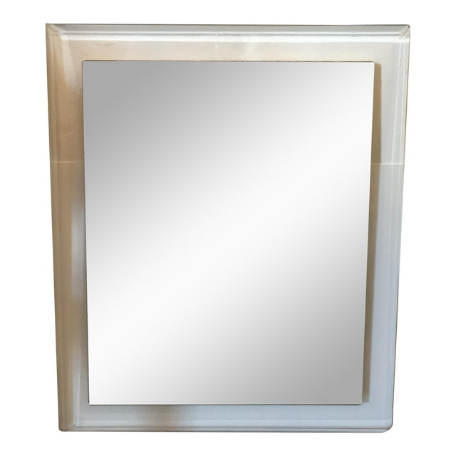Mid-Century Modern Lucite Framed Mirror - Image 1 of 8