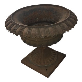 Late 19th Century Philadelphia Cast Iron Garden Planter For Sale