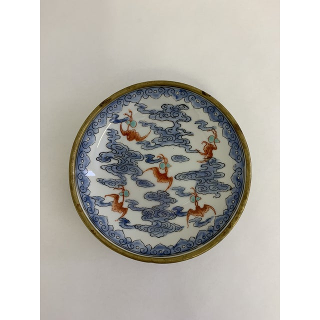 Japanese Vintage Japanese Porcelain Hand Painted Bowl For Sale - Image 3 of 5