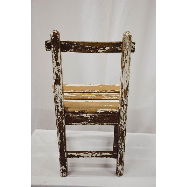 Wood Vintage Child's Chair For Sale - Image 7 of 13