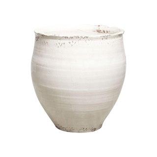 Large White Ceramic Pot or Planter