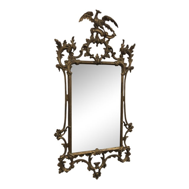 18th Century English Chippendale Chinoiserie Style Wall Mirror For Sale