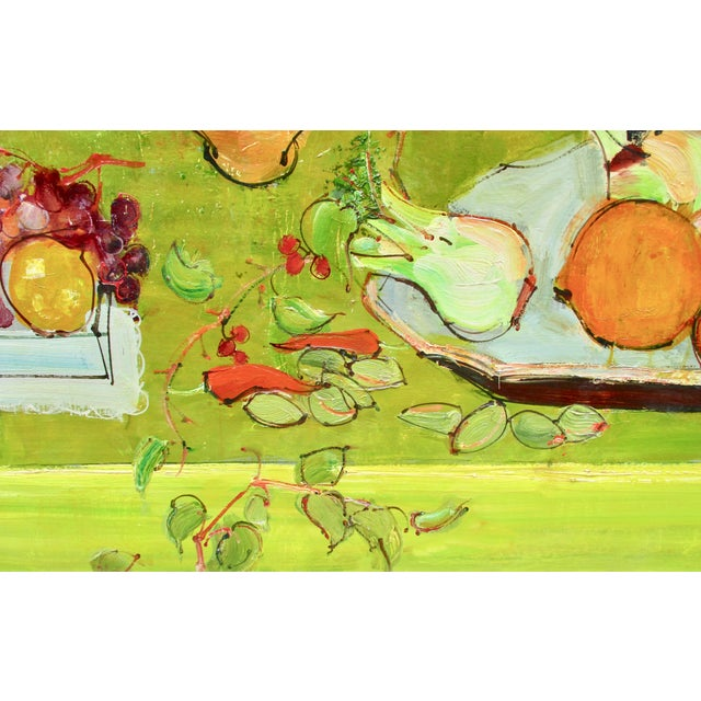 Green 1950s Vintage Andre Vignoles Painting For Sale - Image 8 of 11