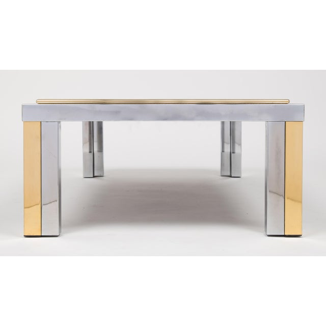 Vintage Romeo Rega Chrome and Brass Coffee Table For Sale - Image 10 of 11