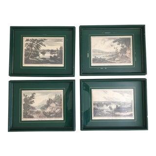 1950s Vintage William Guy Wall Hudson River Prints - Set of 4 For Sale