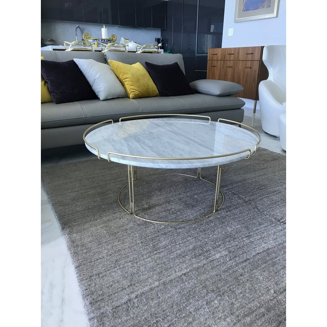 Metal Bijou Cocktail Table in Marble and Matte Gold by Roche Bobois For Sale - Image 7 of 13