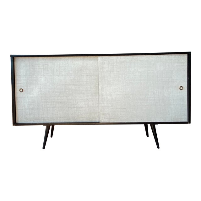 Paul McCobb Planner Group Credenza With Original Ebonized Wood Finish, 1950s For Sale