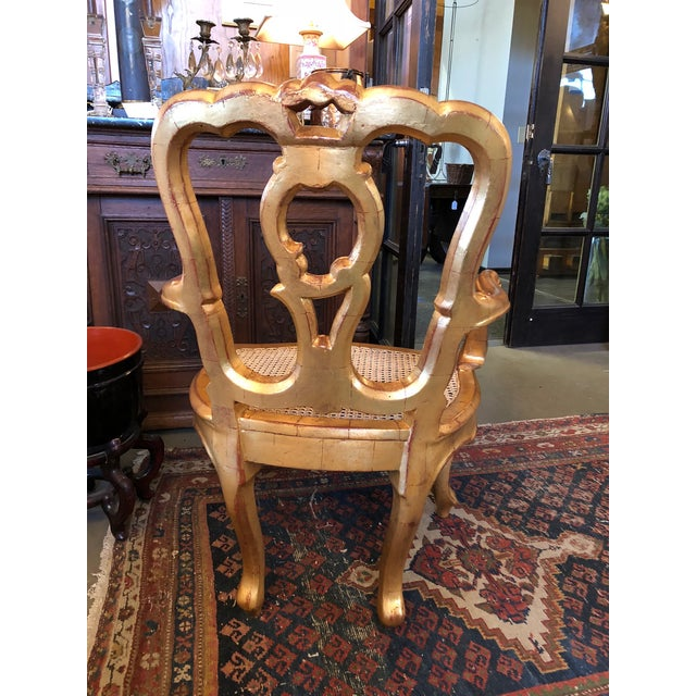 Hollywood Regency Late 19th Century Antique Hand Carved Venetian Arm Chair For Sale - Image 3 of 11
