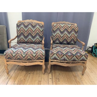 Custom Washed Finished + Kravet Bergere Armchairs - a Pair Preview