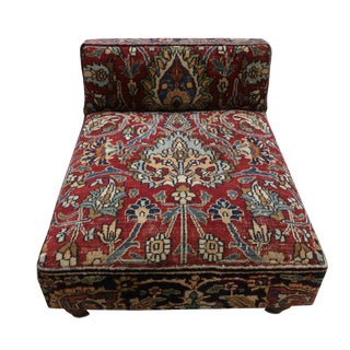 19th Century Low Profile Slipper Chair or Persian Rug PetBed For Sale