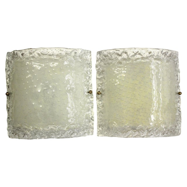 Italian Modern Glass Sconces - a Pair For Sale - Image 13 of 13