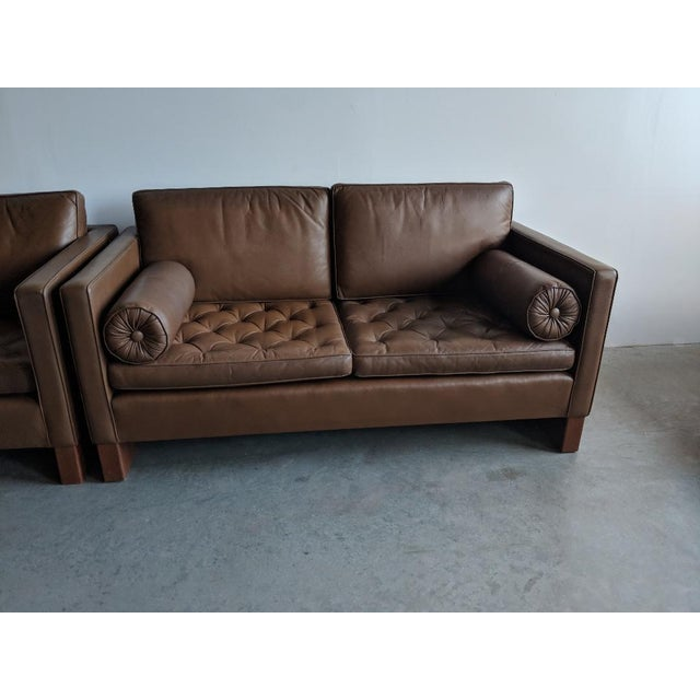 Mid-Century Modern Vintage Mid Century Mies Van Der Rohe for Knoll Settee For Sale - Image 3 of 11