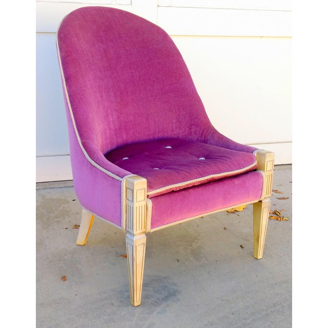 Vintage Lilac Slipper Chair - Image 2 of 8