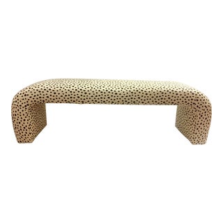 1980's Vintage Kate Spade Fauna by Kravet Waterfall Bench For Sale