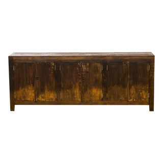 Reclaimed Wood Sideboard For Sale