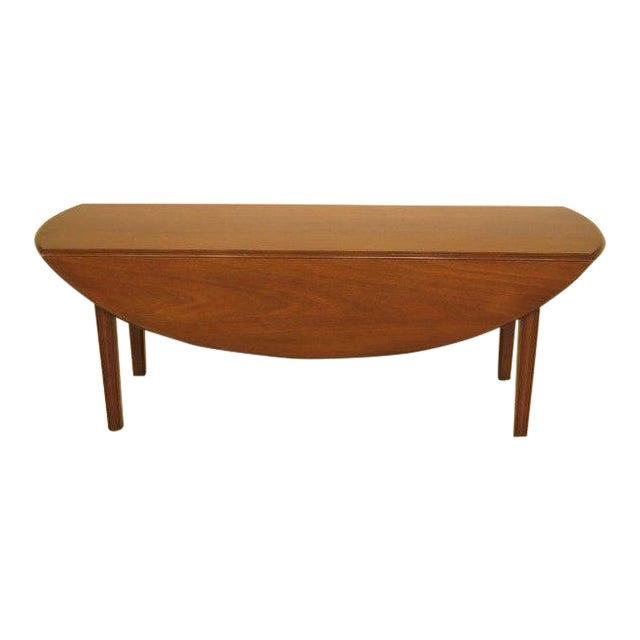 1960s Traditional Kittinger Drop Leaf Mahogany Coffee Table For Sale