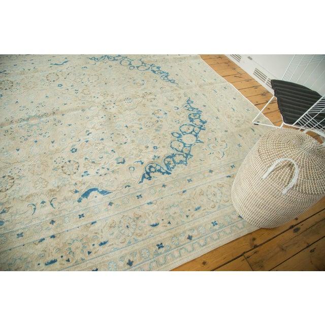 "Vintage Distressed Meshed Carpet - 9'9"" x 12'10"" For Sale - Image 4 of 9"