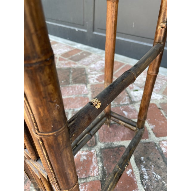 Antique Bamboo Chinoiserie Console For Sale In Los Angeles - Image 6 of 7