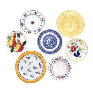 Mismatched Decorative China Plates - Set of 7