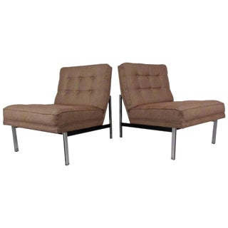"Mid-Century Florence Knoll ""Parallel Bar"" Slipper Chairs For Sale"