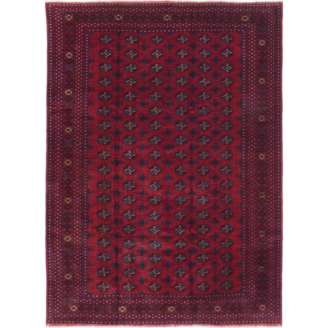 """Hand-Knotted Afghan Rug - 7'0"""" X 9'8"""" - Image 1 of 2"""
