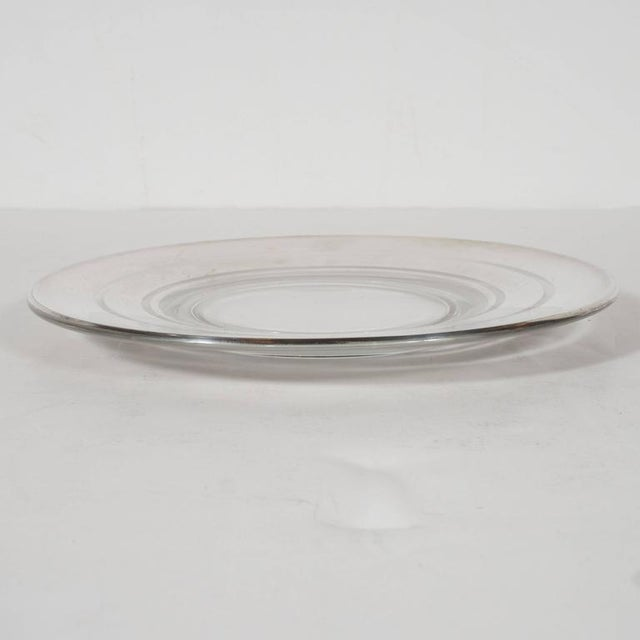 Art Deco Six Art Deco Sterling Silver Overlaid Hors D'Oeuvres Plates by Dorothy Thorpe For Sale - Image 3 of 5