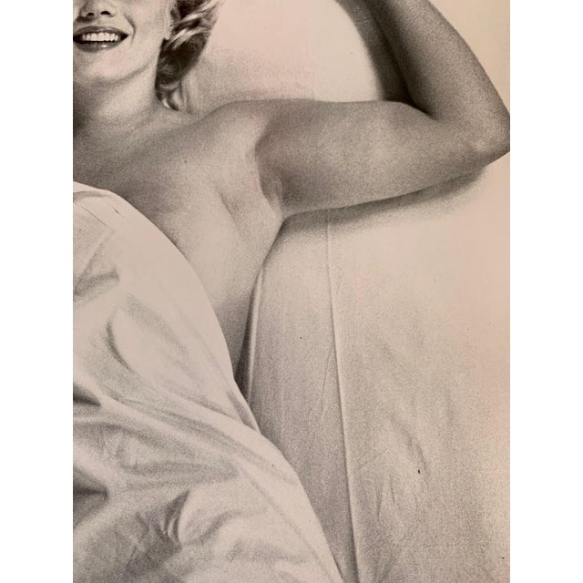 Paper Vintage Portrait of Marilyn Monroe by Magnum Photographer Eve Arnold For Sale - Image 7 of 10