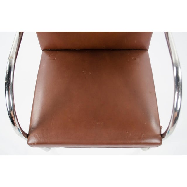 1960s Mid-Century Modern Brno Knoll International Tubular Chrome and Naugahyde Arm Chair For Sale In Atlanta - Image 6 of 13
