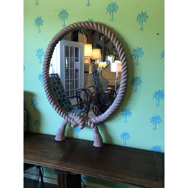 Vintage Carved Rope Tassel Mirror For Sale - Image 9 of 10