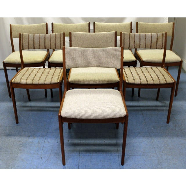 Johannes Andersen Uldum Danish Modern Teak Dining Chairs - Set of 8 For Sale - Image 12 of 12