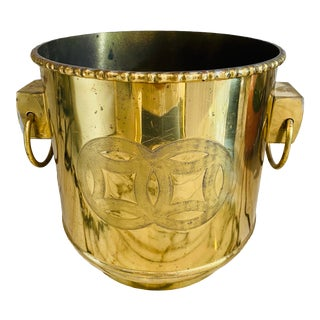 Handled Brass Planter For Sale