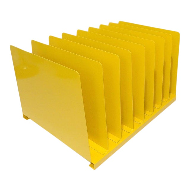 Yellow Metal Office File/Organizer For Sale