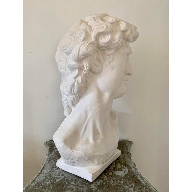 1990s Plaster Bust of David Sculpture For Sale - Image 9 of 12