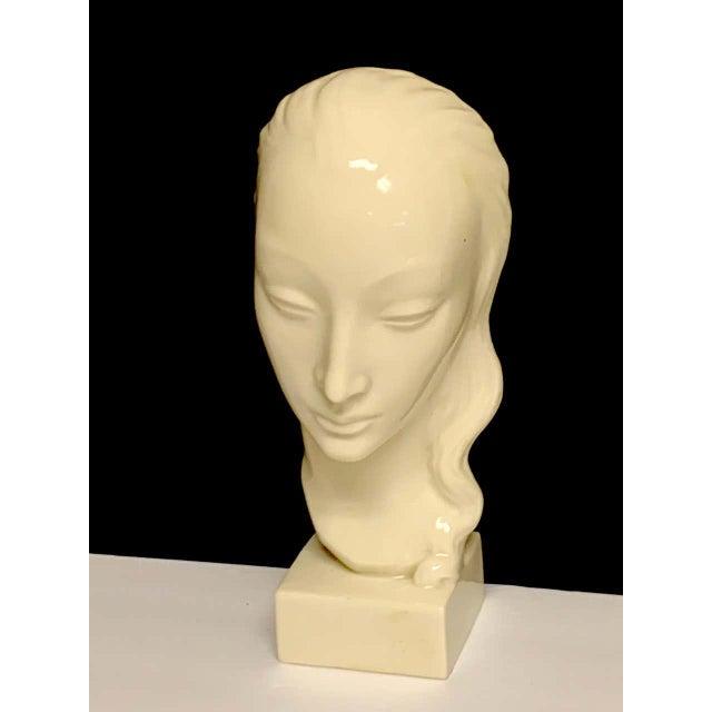 Geza De Vegh for Lenox Art Deco Portrait Bust of a Woman Sculpture For Sale - Image 11 of 13