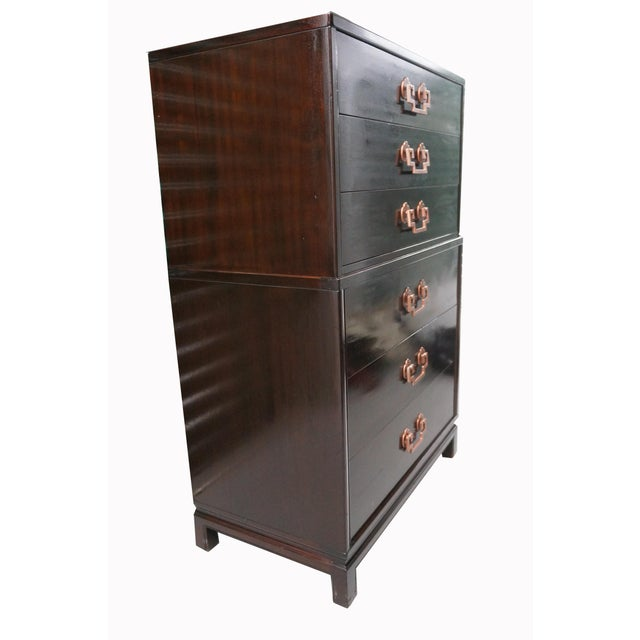 1950s Landstrom Mid-Century Modern Tall Dresser For Sale - Image 5 of 6