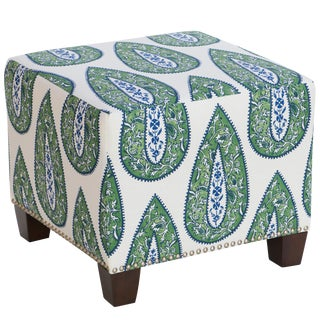Bindi Kelly Cotton Square Ottoman For Sale