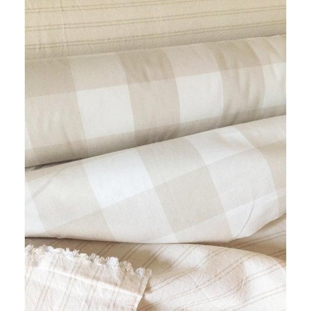 Diagonal Beige & Cream Plaid Pillow Cover - Image 6 of 6
