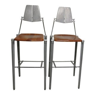 1980s Vintage Robert Josten Barstools - A Pair For Sale