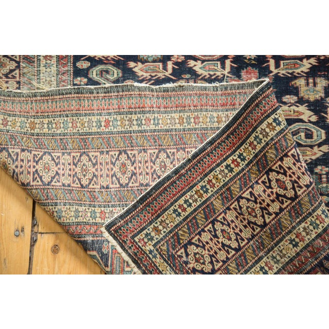 """Blue Antique Shirvan Rug - 4'3"""" x 6'7"""" For Sale - Image 8 of 11"""