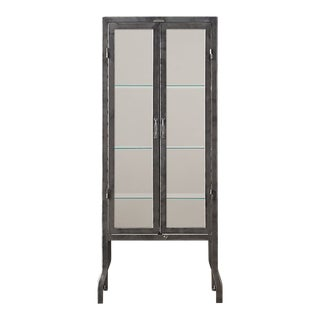 Contemporary Restoration Hardware Gray Apothecary Cabinet For Sale