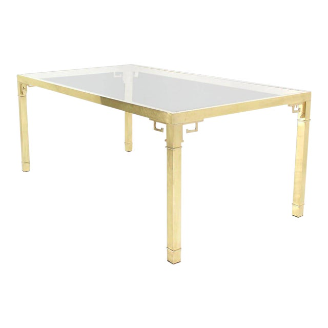 Mastercraft Solid Brass Dining Table For Sale