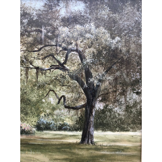 Douglas Grier Southern American Architectural Landscape Painting, Framed For Sale - Image 4 of 12
