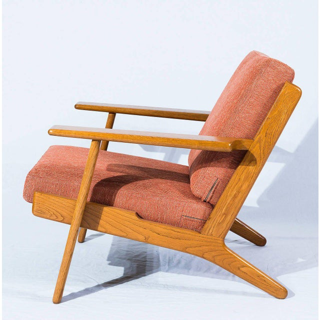 Contemporary Hans Wegner GE-290 Lounge Chair For Sale - Image 3 of 10