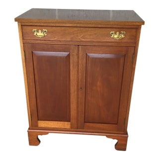 Vintage Biggs Furniture Mahogany Media Cabinet For Sale