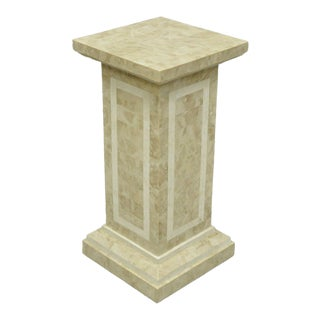 Late 20th Century Tessellated Stone Column Pedestal by Marquis Collection of Beverly Hills For Sale