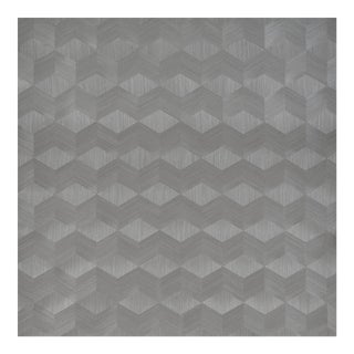 Schumacher Chevron Inlay Wallpaper in Birch For Sale