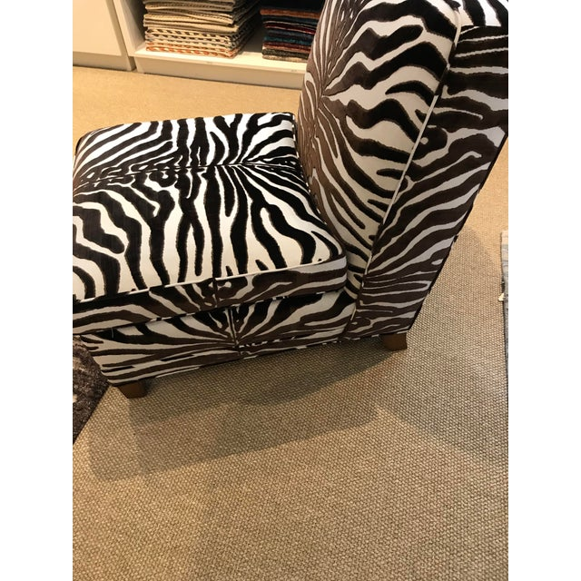 Scalamandre showroom sample. Upholstered in a Scalamandre cut velvet