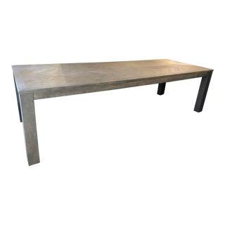 Restoration Hardware Herringbone Rectangular Dining Table For Sale