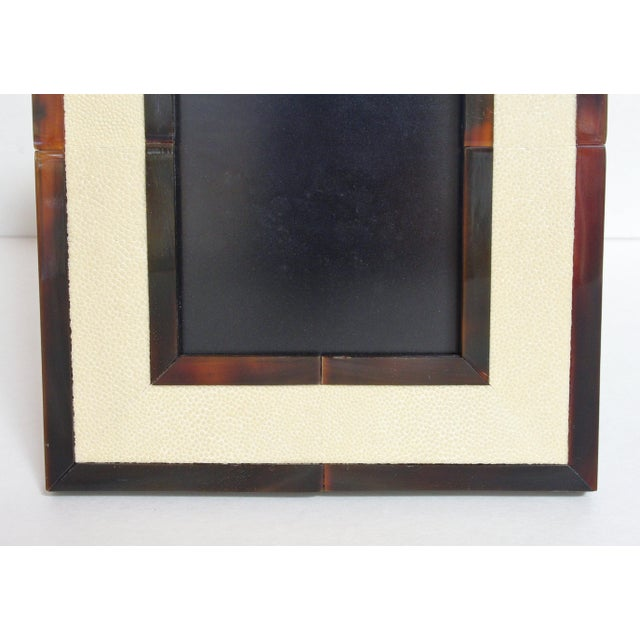 Ivory Shagreen and Brown Horn Photo Frame by Fabio Ltd For Sale In Palm Springs - Image 6 of 8