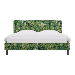 King Tailored Platform Bed In Verdure Bois De Chene By Old World Weavers For Sale
